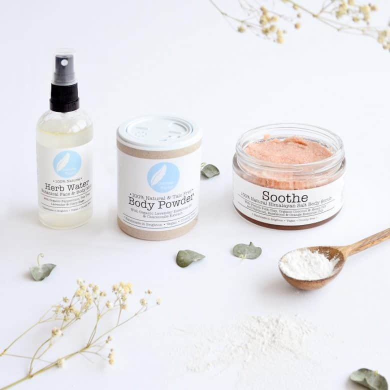 love corinne taylor ethical skincare handmade in Brighton using organic natural ingredients, essential oils and vegan, cruelty free and eco friendly