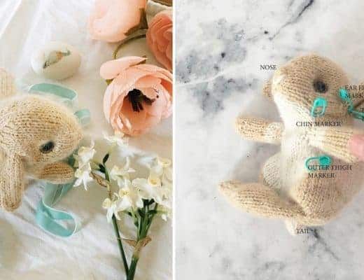 how to make a knitted easter bunny