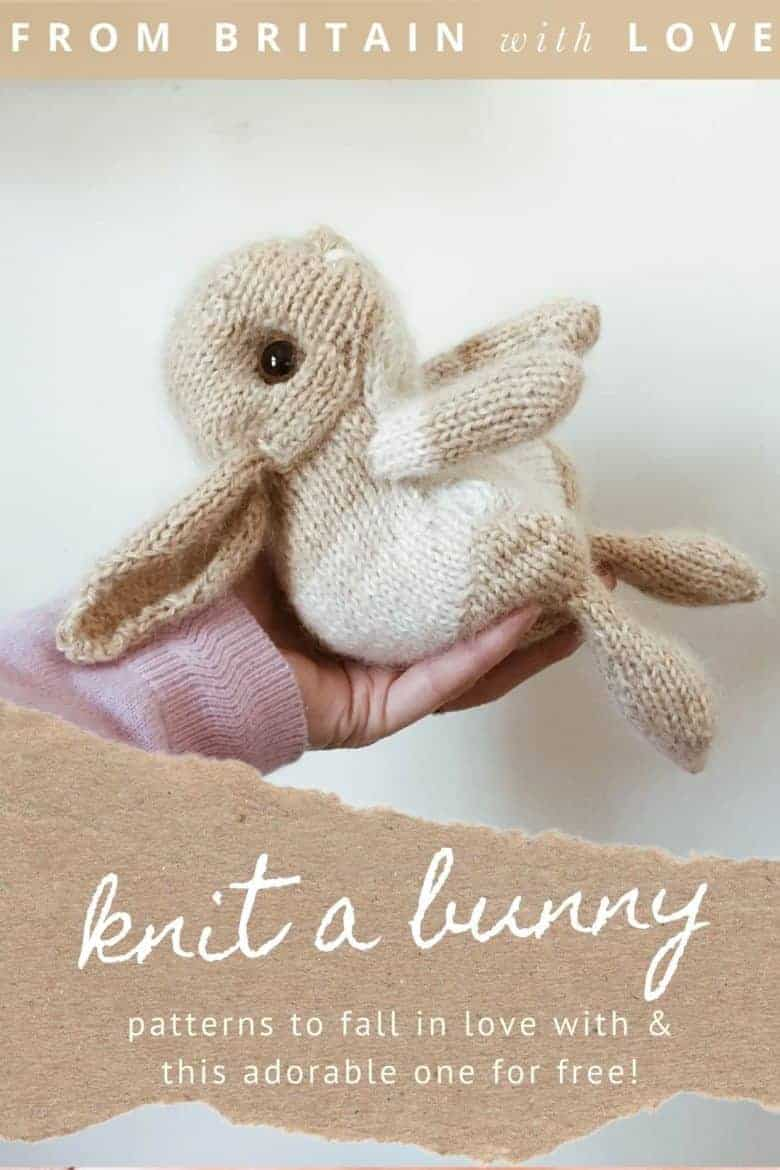 don't miss your free baby easter bunny rabbit knitting pattern download by claire garland aka dot pebbles knits with step by steps and expert tips from claire herself #knitting #pattern #free #bunny #rabbit