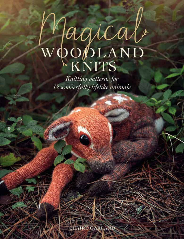 woodland knits knitting pattern book by claire garland, including baby deer fawn and other woodland critters to knit #knittingbook #woodland #deer #dotpebbles #frombritainwithlove