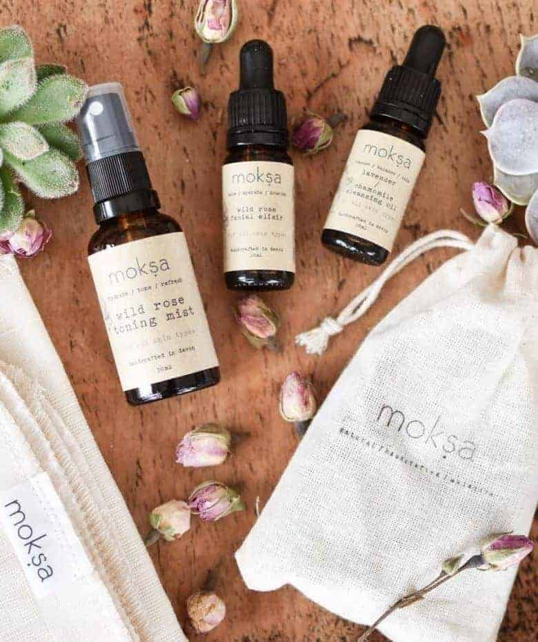 moksa ethical natural skincare handmade in devon using organic vegan ingredients, essential oils and all cruelty free and vegan. Click through to find out more and to pamper your skin and senses with Moksa Facial Ritual #ethicalskincare #naturalskincare #handmade #vegan #crueltyfree #frombritainwithlove