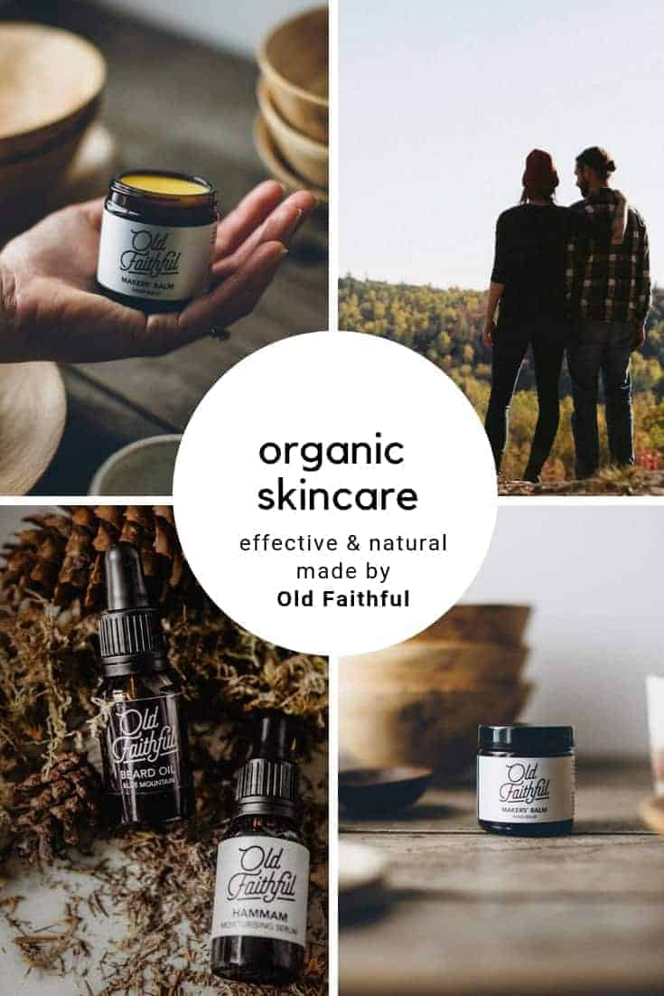 click through to discover Old Faithful skincare organic, natural and therapeutic made with care in Britain using the finest pure ingredients and essential oils. Discover heavenly, effective cleaners, moisturisers, beard oil and makers balm to care for your skin naturally #naturalskincare #organicskincare #ethicalskincare #beardoil #madeinbritain #frombritainwithlove #oldfaithful #ethicalbeauty #naturalbeauty