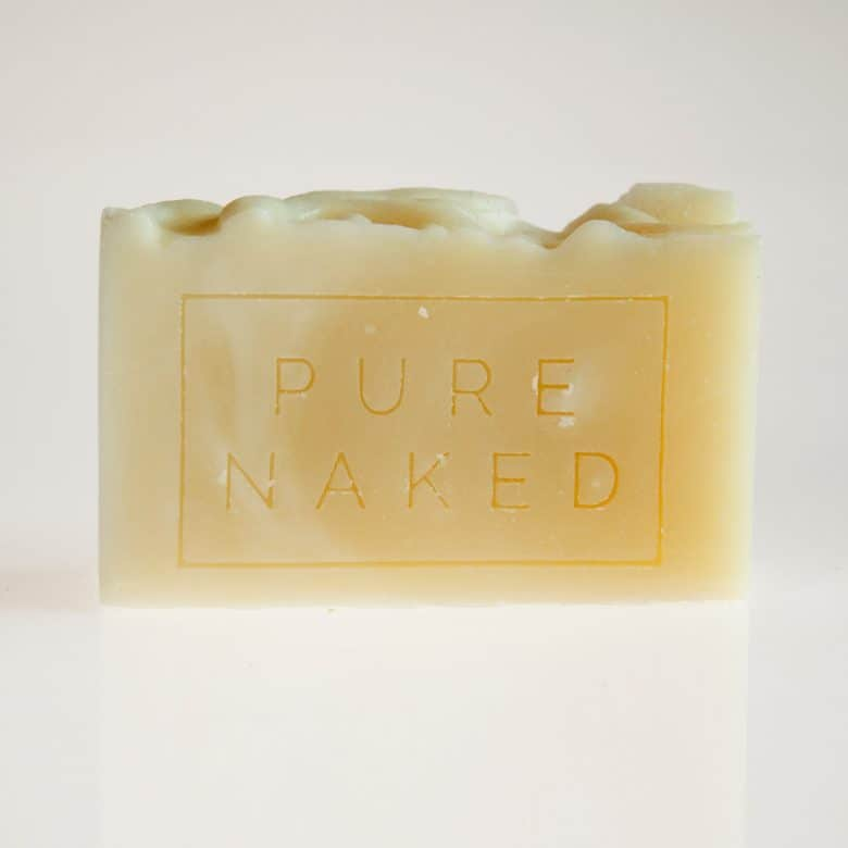 pure naked handmade soap by Pure Naked using organic plant based ingredients and a cold process method with ingredients including clays, botanicals and essential oils. Click through to find out more and to buy this natural soap perfect for sensitive allergy prone skin #handmadesoap #ethicalskincare #ethicalbeauty #organicsoap #sensitiveskin #frombritainwithlove