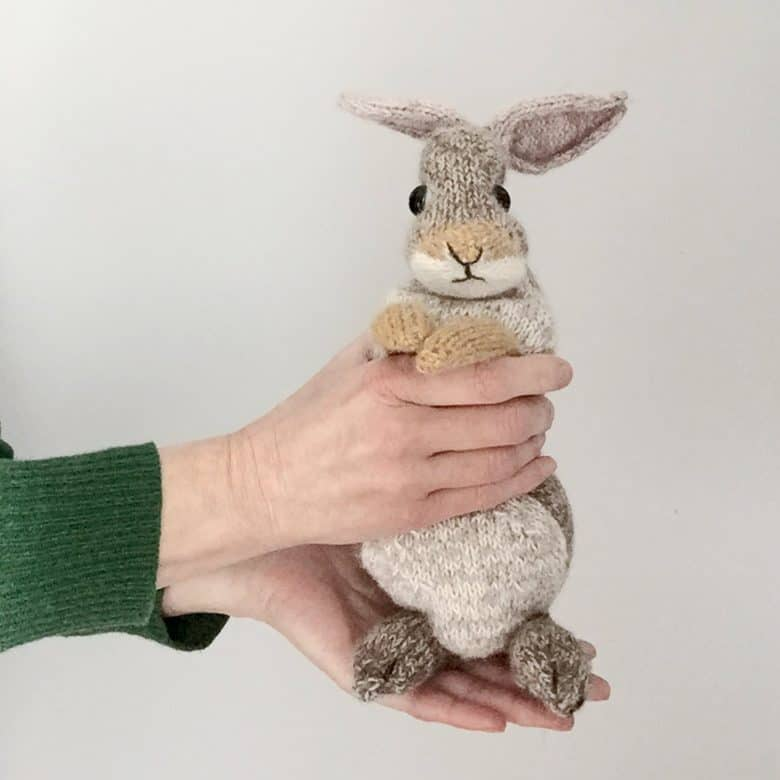 rabbit knitting pattern by claire garland dot pebbles knits #rabbit #knitting #pattern #frombritainwithlove