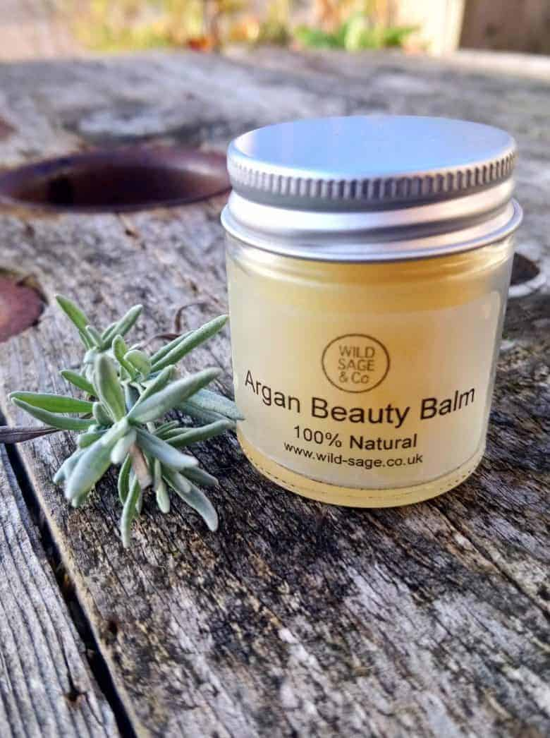 argan beauty balm by wild sage natural ethical handmade skincare and beauty including handmade soaps, organic skincare, skin balms, aromatherapy skincare and more. Click through to discover our picks from the range #ethicalskincare #ethicalbeauty #naturalbeauty #handmade #frombritainwithlove #aromatherapy #organic #crueltyfree