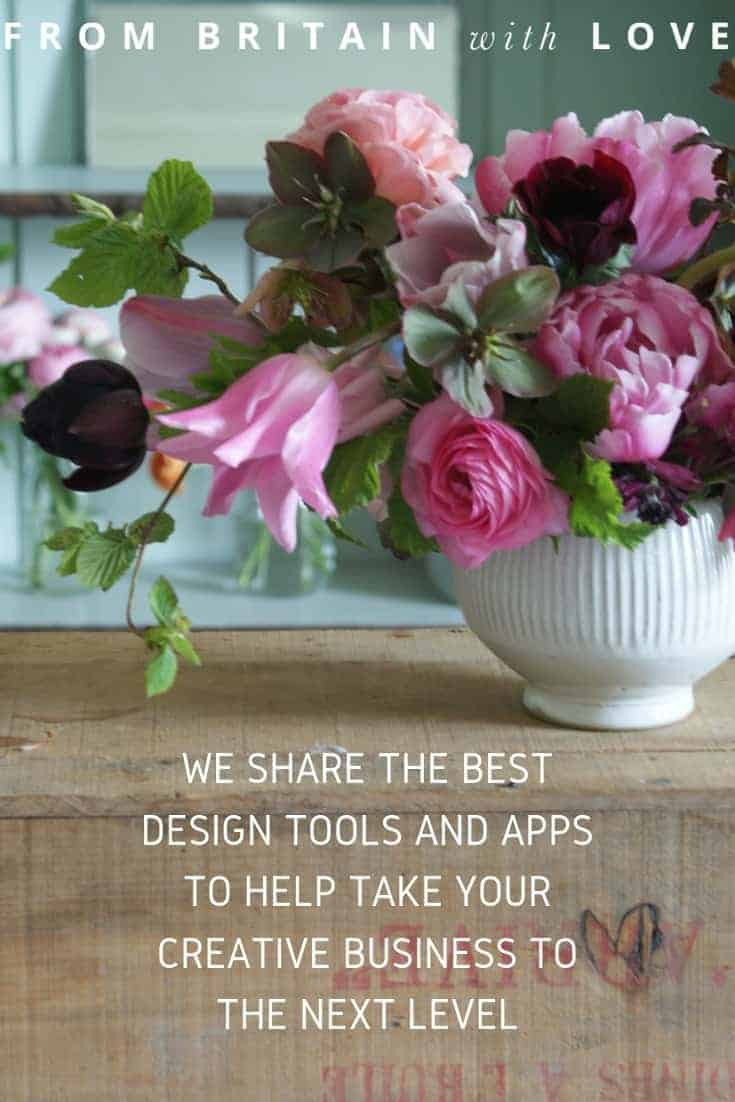 online design and marketing tools and apps to help you grow your business include Tailwind scheduler for Pinterest. Click through to find out the best online tools and apps to help you grow your creative business and take it to the next level #tailwind #canva #frombritainwithlove #pinterest #scheduler #buffer