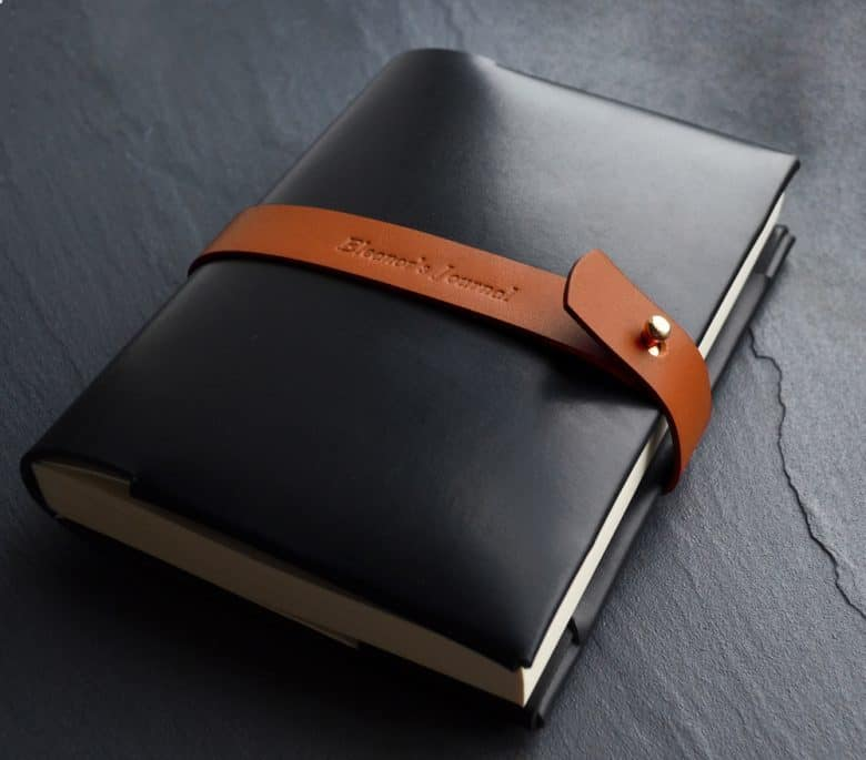 bond and knight ethical leather handmade journal