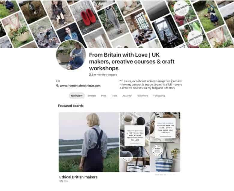 pinterest marketing strategy ideas to help take your creative business to the next level. Click through for expert help from Jen Stanbrook as well as links to Kirstie Hill and my own help and advice built on building my own pinterest page from 0 to nearly 2 million viewers a month. #pinterest #pinterestmarketing #strategy #creativebusiness #ideas #jenstanbrook #frombritainwithlove
