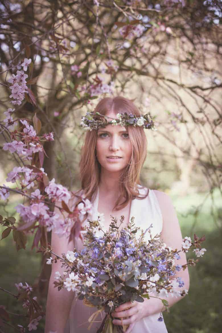 love these spring wedding flowers and cherry blossom by catkin country garden flowers - sustainably grown in Lincolnshire - seasonal and naturally beautiful. wedding and event flowers as well as flower school courses