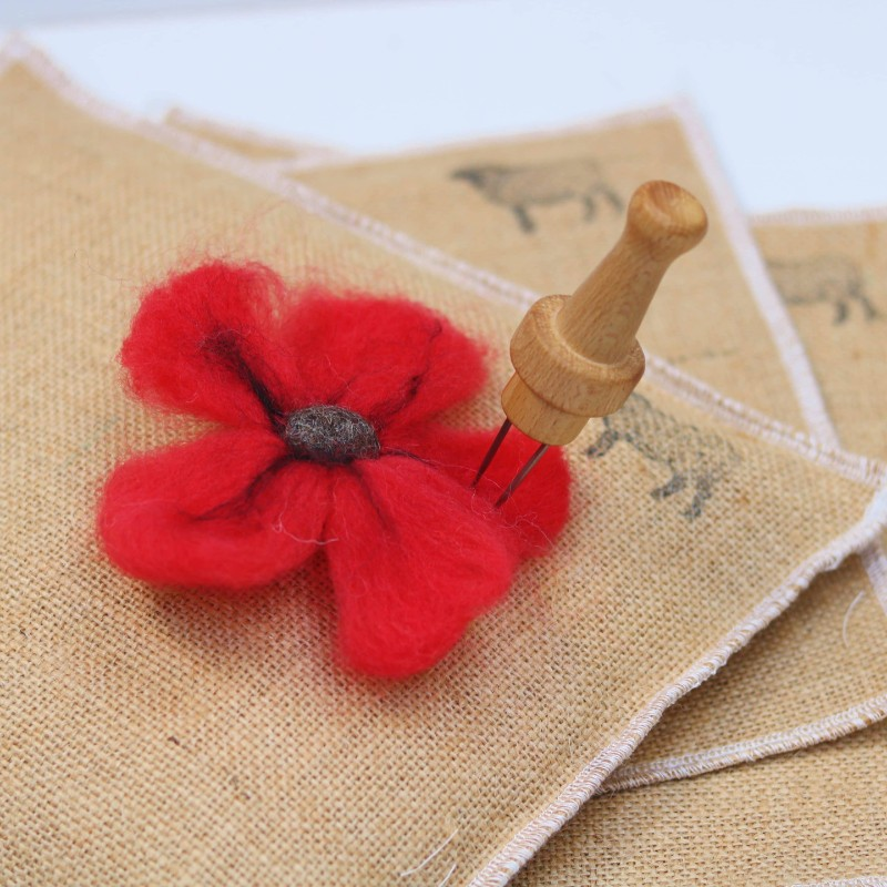 needle-felt-poppy-flower-kit