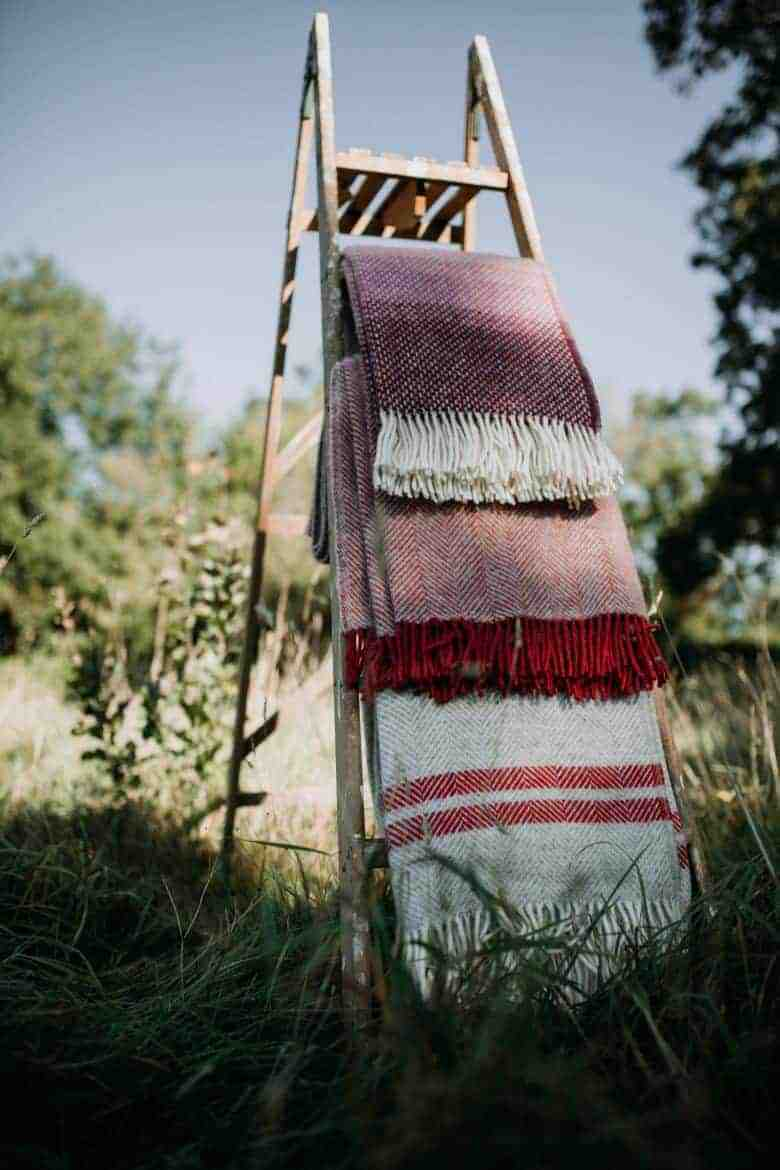 wool blankets made in uk handmade ethical homeware by these two hands for autumn
