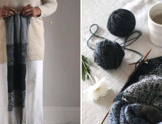 love this free knitting pattern for an ombre striped cowl scarf by Jules Hogan. Click through to get this free knitting pattern and other beautiful free patterns perfect for Autumn cosy evenings #knittingpattern #free #freepattern #knitting #autumn #frombritainwithlove #cowl #scarf