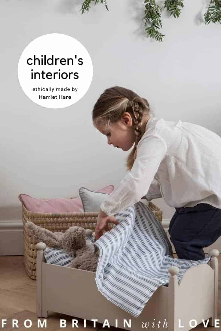 harriet hare children's bedding and interiors ethically made in Britain and Europe with care and craftsmanship #ethical #children #bedding #nursery #madeinbritain #frombritainwithlove
