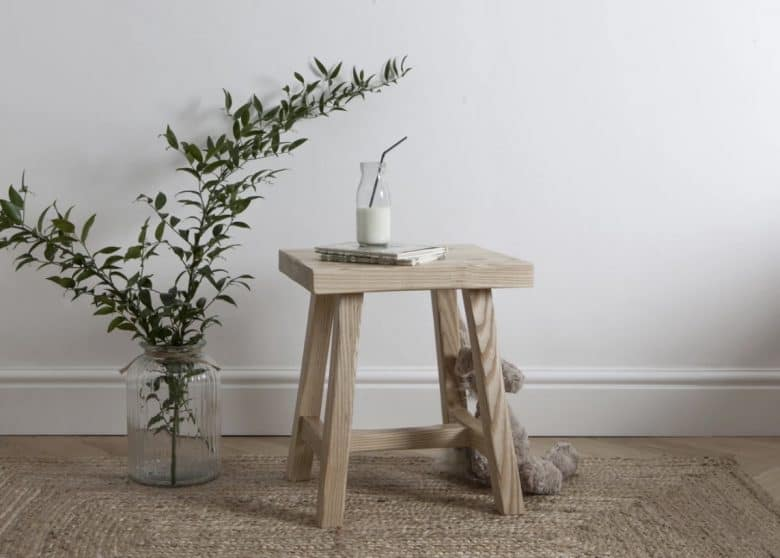 harriet hare ash stool made in britain