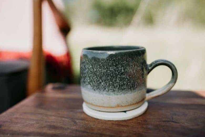 ceramic chunky mug handmade ethical homeware by these two hands for autumn