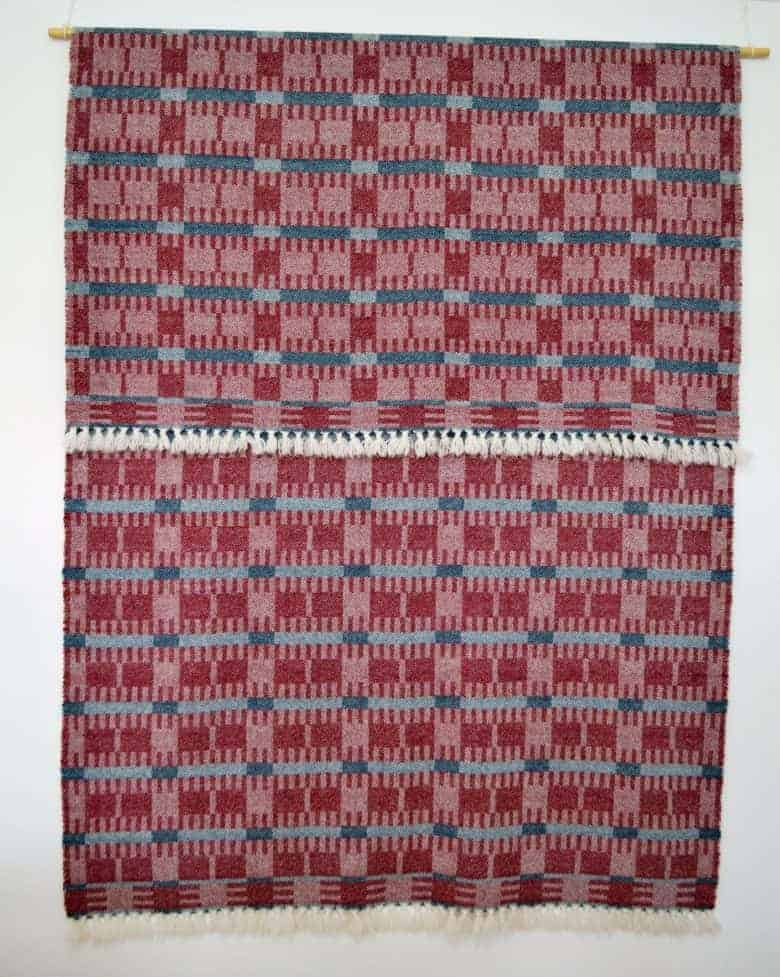 english robins pure lambswool hand woven throw by Madeleine Jude