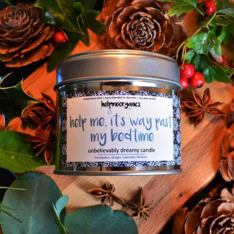 aromatherapy sleep candle by help me organics. click through for more handmade gift ideas made in britain for women you'll love to give and receive