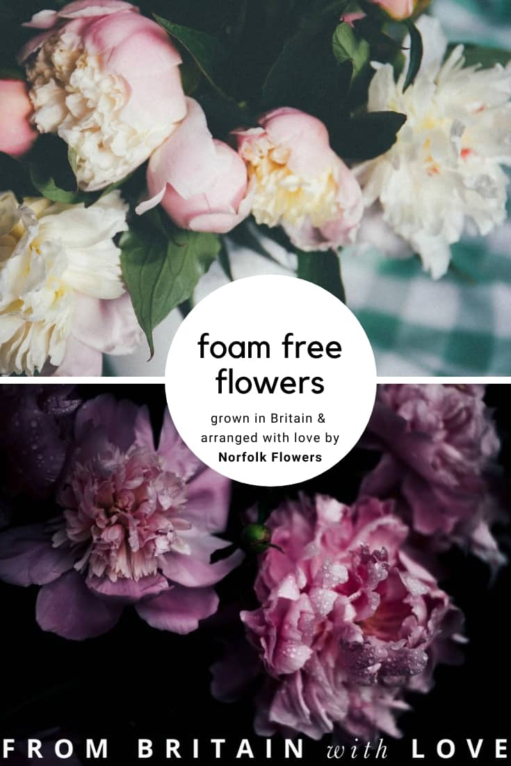love these foam free british flowers grown in Norfolk by Norfolk Flowers. Click through to find out more about this special sustainable flower grower and norfolk florist #sustainable #britishflowers #norfolk #florist #grower #flowers #frombritainwithlove
