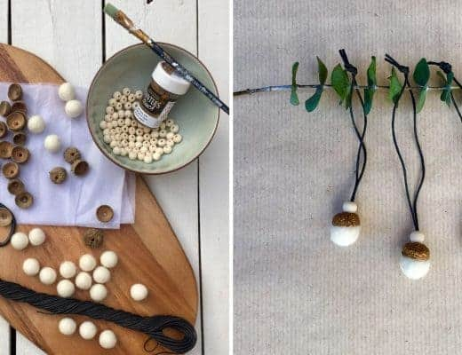 how to make natural acorn decorations for christmas