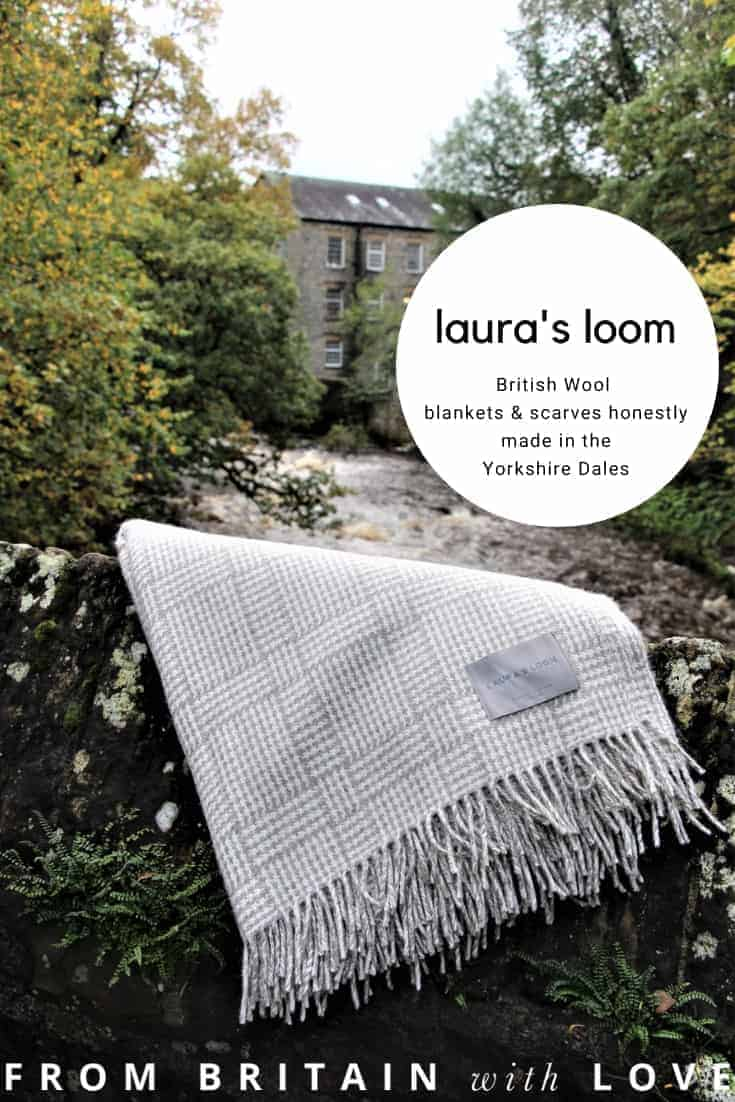 love Laura's Loom british wool blankets and scarves responsibly made in the Yorkshire Dales with love and care. Click through to get all the info you need #britishwool #frombritainwithlove #blankets #madeinbritain #yorkshire #cumbria