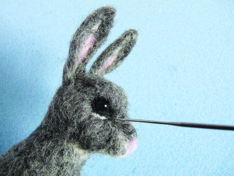 how to make a needle felted rabbit