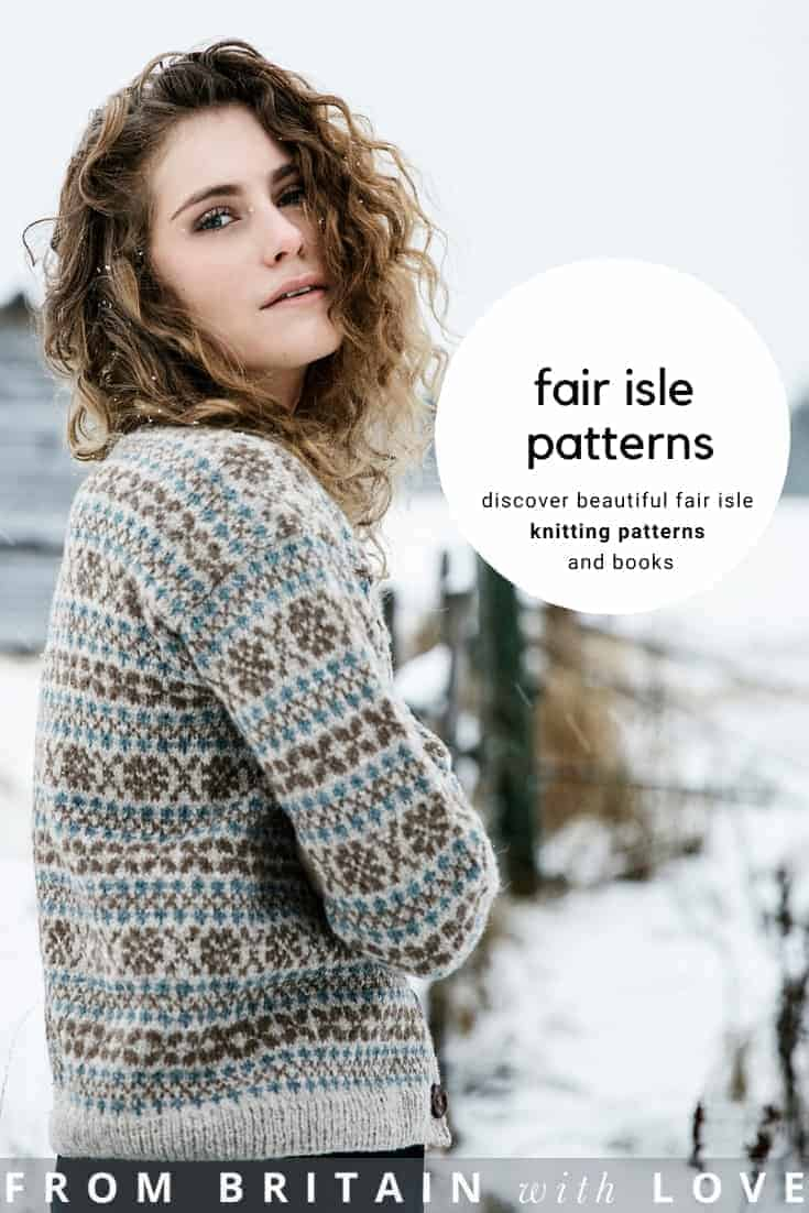 fair isle cardigan knitting pattern. click through to get your free knitting pattern #fairisle #knittingpattern #free #frombritainwithlove