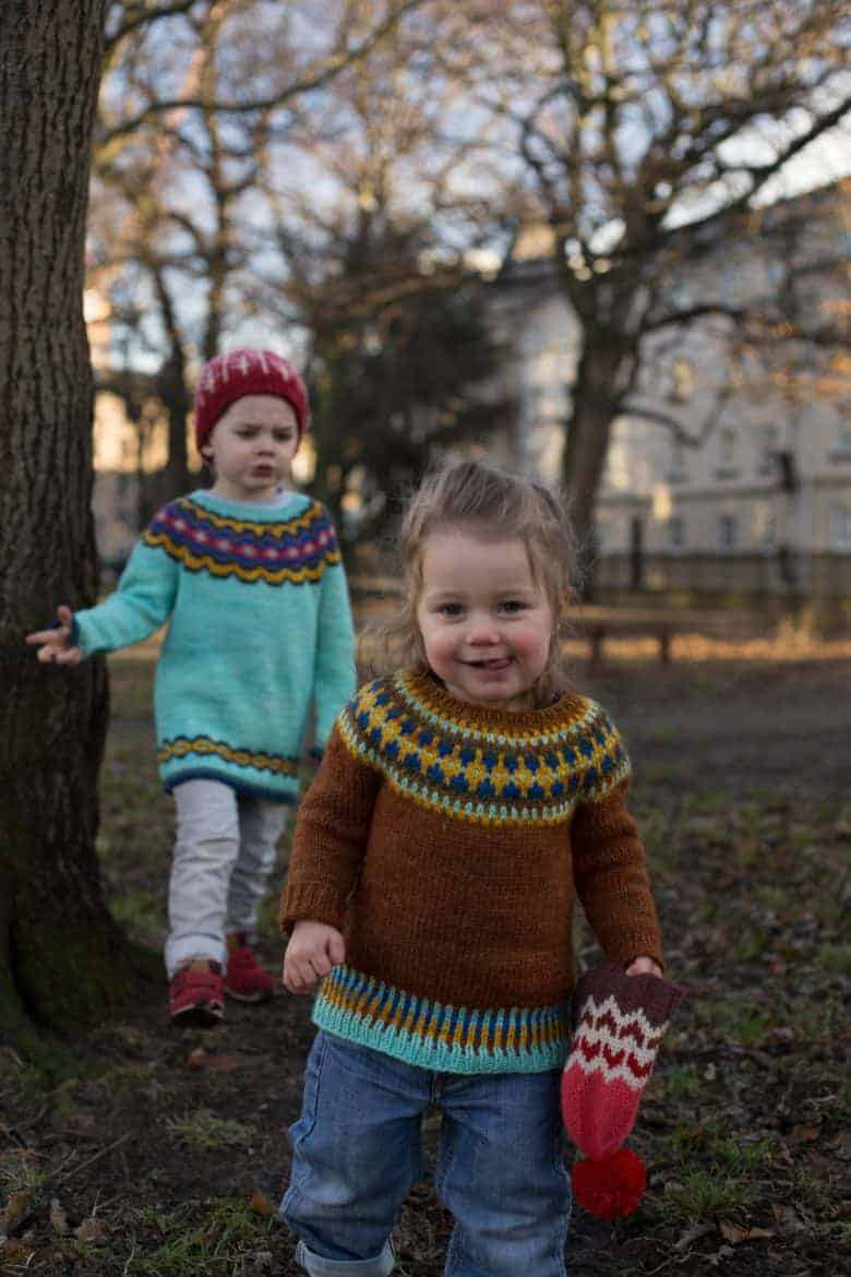 fairisle colourblock sweater knitting pattern for children by tincan knits. click through for all the details you need to buy this pattern and to source some really lovely free patterns too! #knitting #pattern #fairisle #colourwork