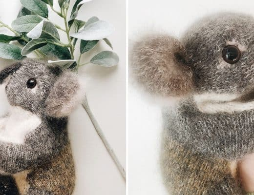 knit a koala bear free knitting pattern