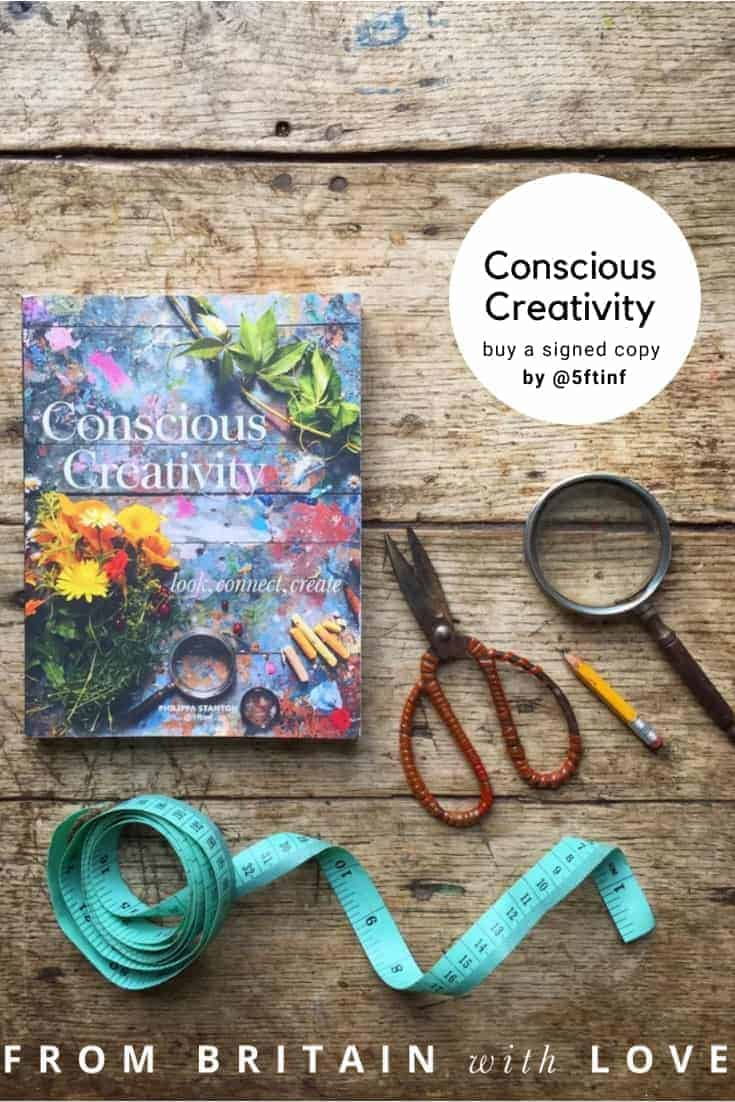 love this Philippa Stanton @5ftinf conscious creativity book - click through to find out how to get hold of a limited edition signed copy as well as original paintings, signed prints and photographs and hand-rolled silk scarves by the artist #consciouscreativity #@5ftinf #frombritainwithlove #instagram