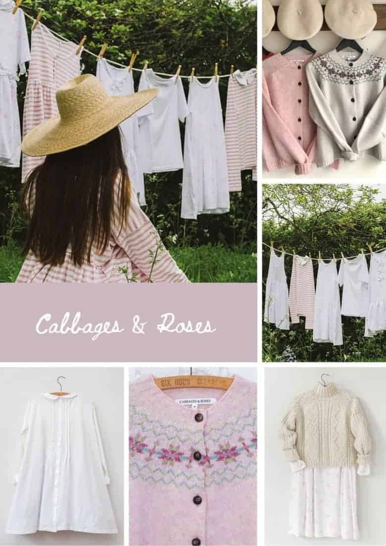 cabbages and roses spring sale - organic cotton white, stripe and floral t-shirts, smocks and dresses for much less. Click through to see more well-made essentials to love a lifetime #sustainablefashion #madeinbritain #slowfashion #ethicalfashion #frombritainwithlove