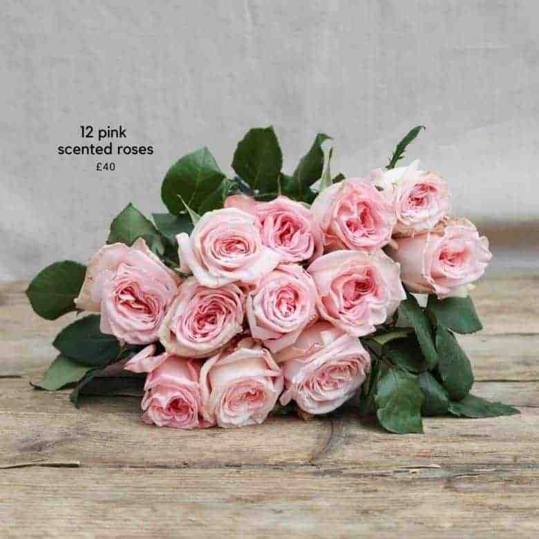 12 scented pink roses real flower company