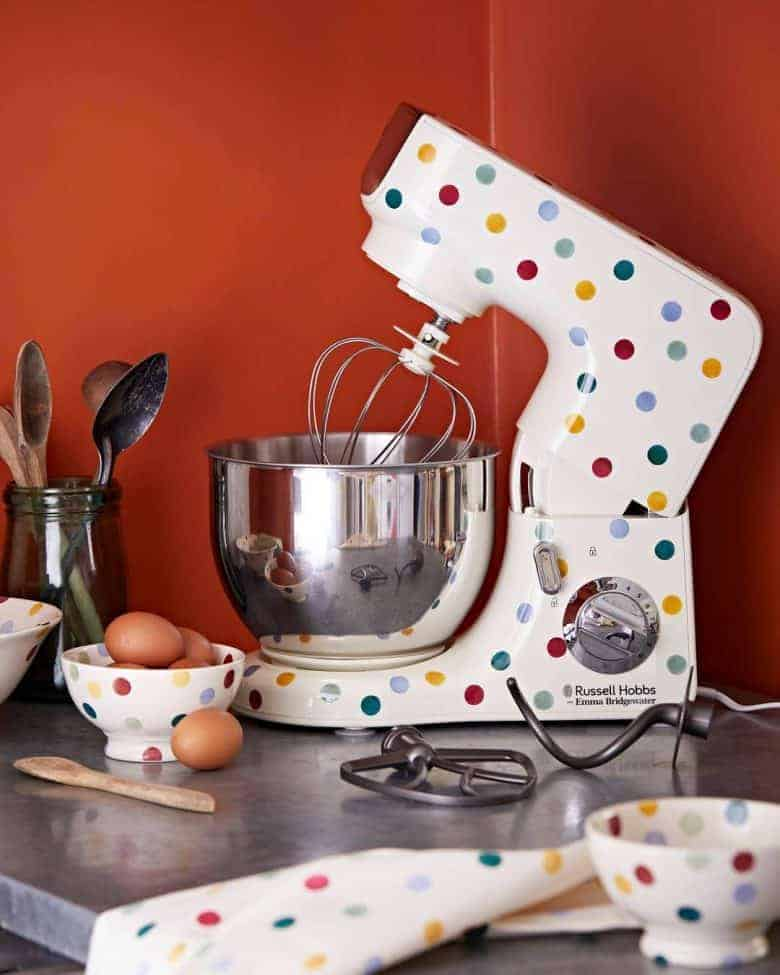 how cute is this polka dot food mixer by emma bridgewater and russell hobbs? perfect for lovers of the great british bake off and emma bridgewater #mixer #dotty #polkadot #gbbo #bakeoff #emmabridgewater