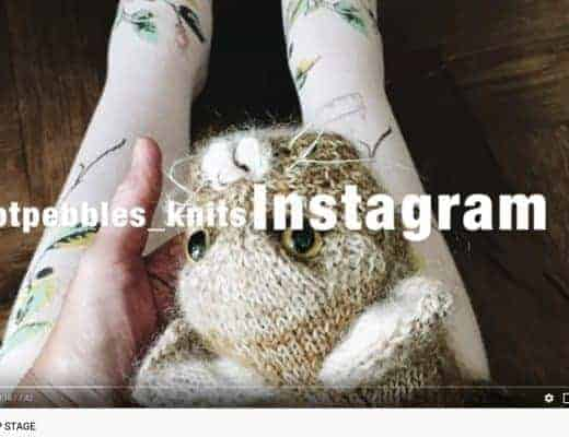 how to knit a cat video tutorial