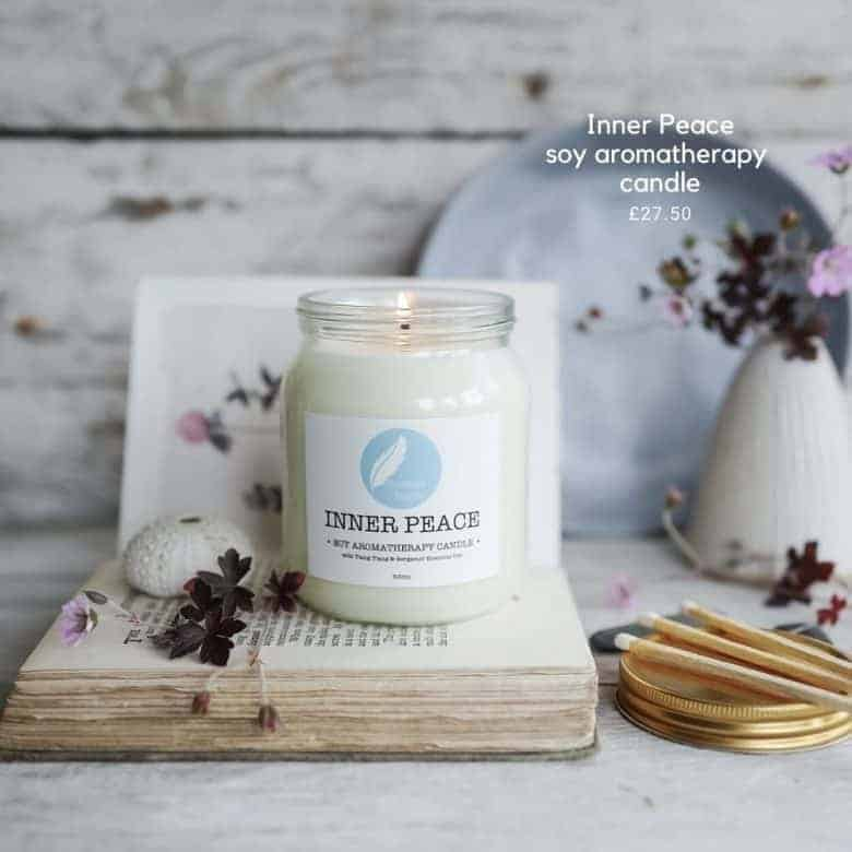 inner peace aromatherapy candle corinne taylor
