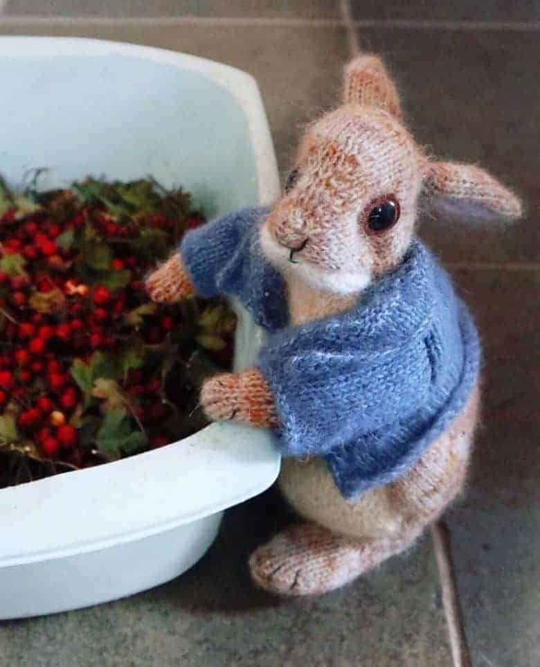 peter rabbit bunny knitting pattern by claire garland dot pebbles knits #knitting #pattern #rabbit #bunny #frombritainwithlove