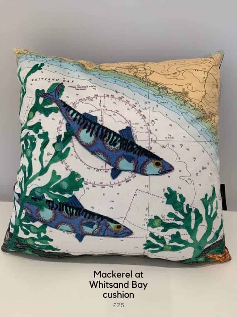 hannah wisdom mackerel cushion