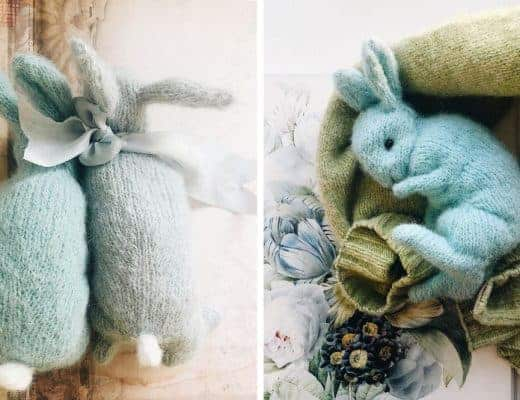 little blue bunny knitting pattern dot pebbles