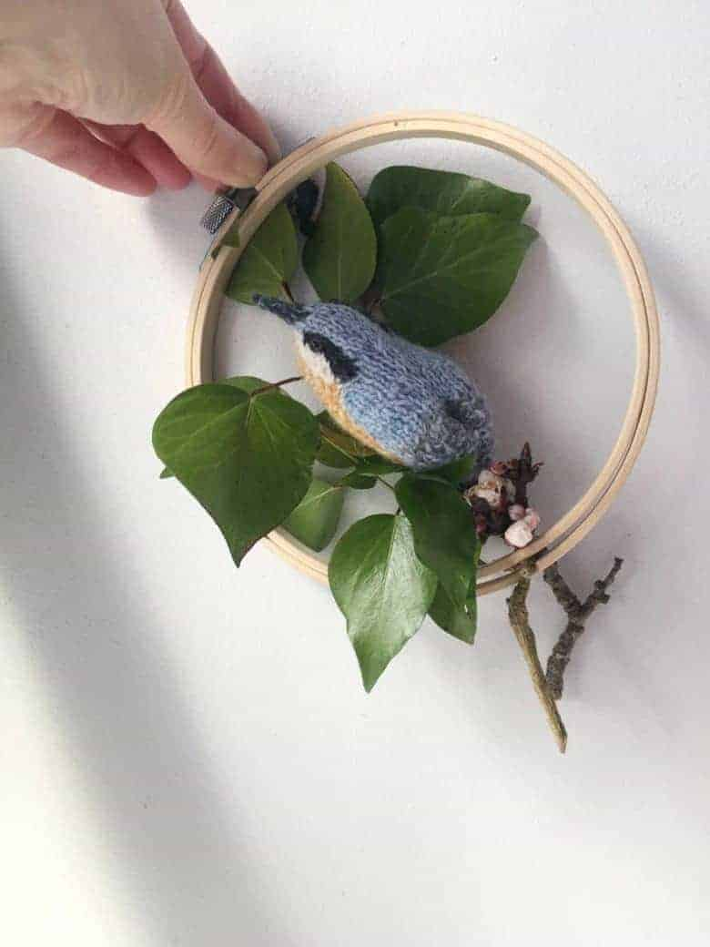 nuthatch bird knitting pattern #knitting #pattern #bird #frombritainwithlove