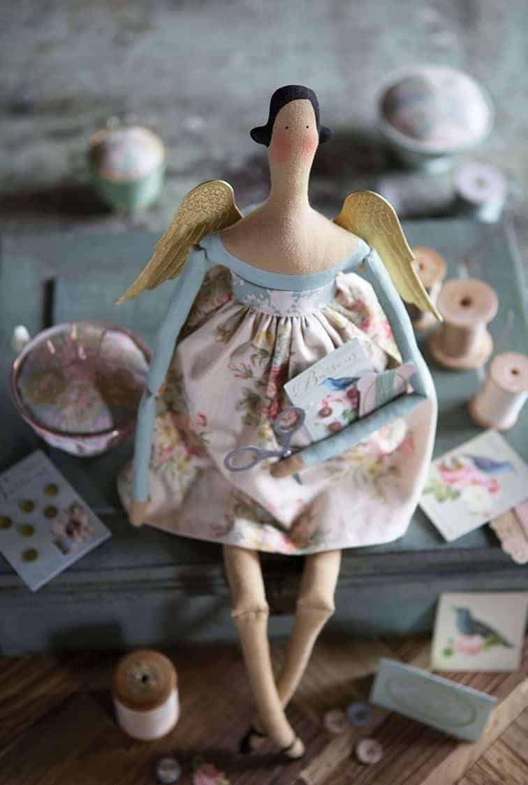 tilda doll angel from the homemade and happy book by tone finnanger - get the sewing pattern to make your own #tilda #doll #angel #pattern