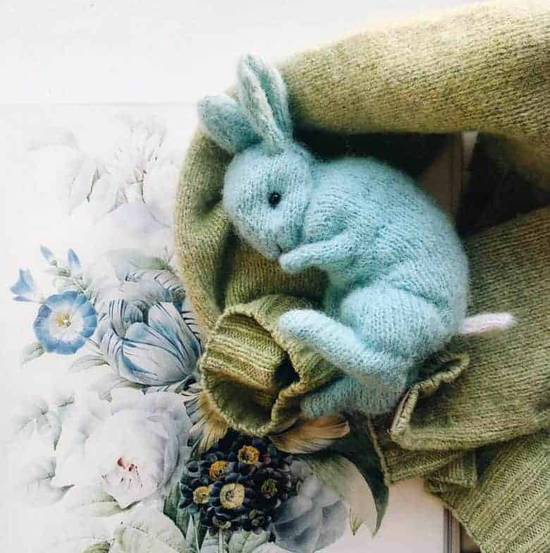 little blue bunny knitting pattern beginners claire garland dot pebbles knits