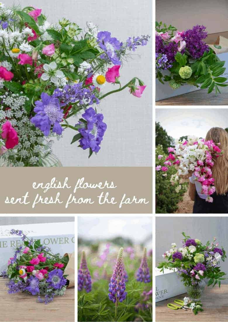 flower box fresh from the farm the real flower company sustainable british flowers foam free #english #flowers #flowerbox #british #frombritainwithlove