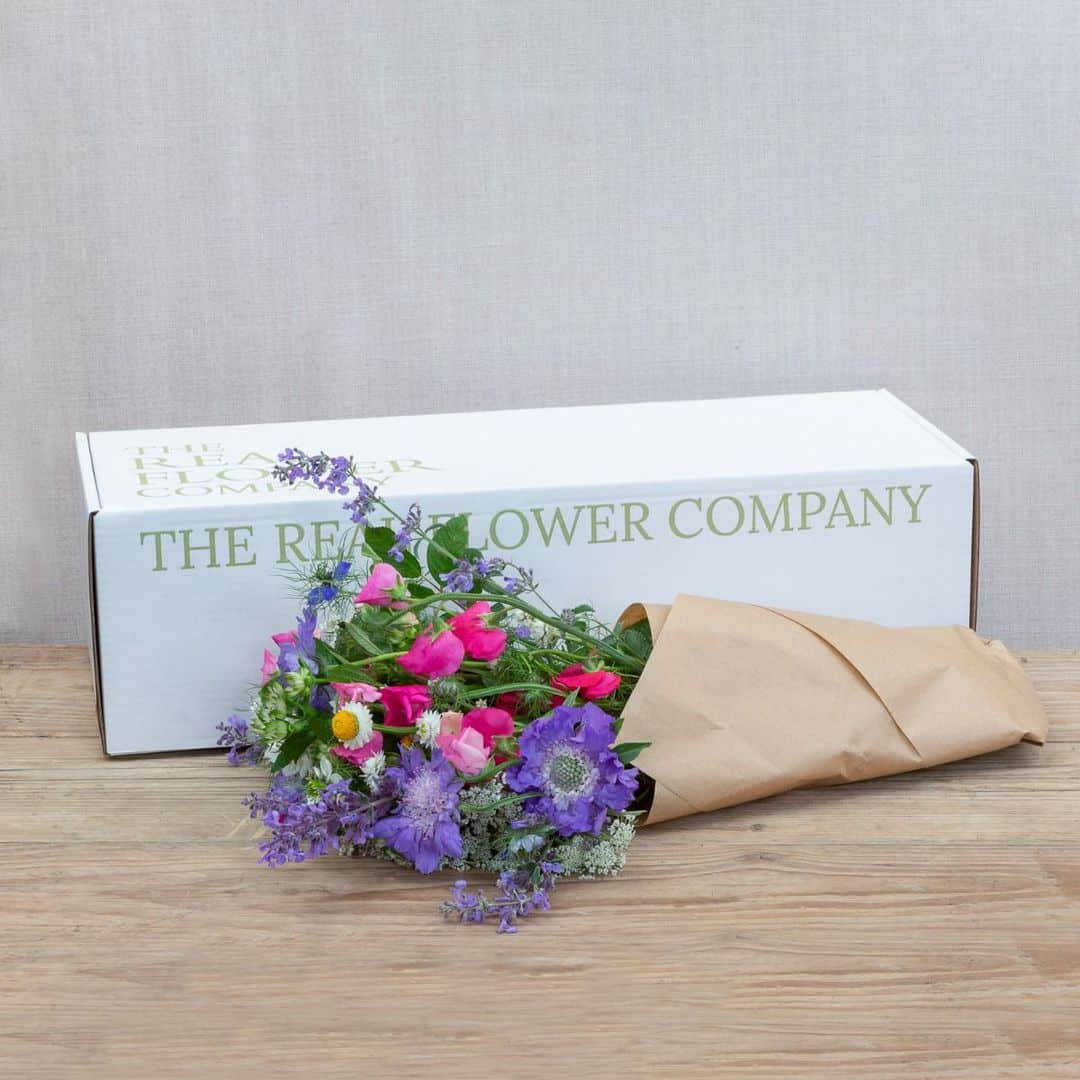 flower box fresh from the farm the real flower company sustainable british flowers foam free