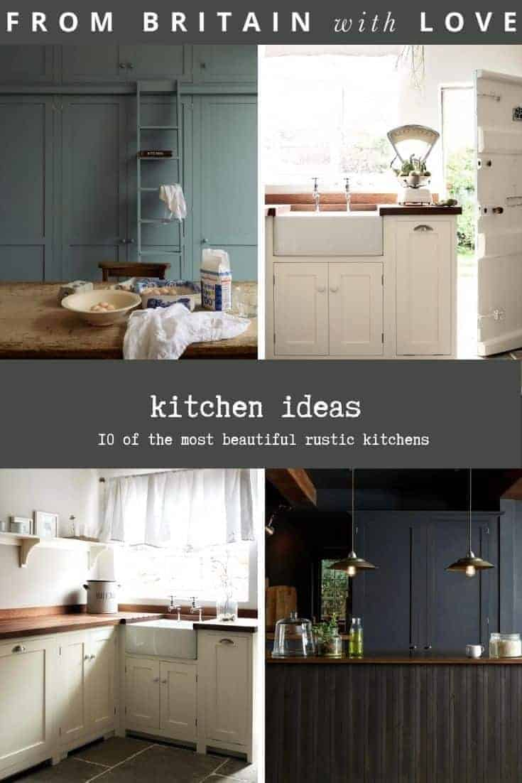 kitchen ideas to help inspire your kitchen remodel including these beautiful rustic ideas from Devol kitchens - I share 10 of the most beautiful country, modern rustic and shaker kitchen ideas #kitchen #ideas #rustic #shaker