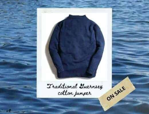 traditional guernsey jumper made in uk from soft pure cotton and natural indigo dye