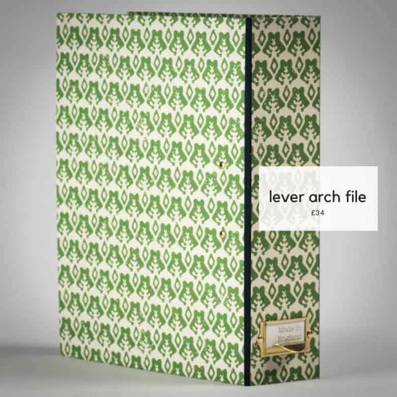 yateley papers block printed lever arch file