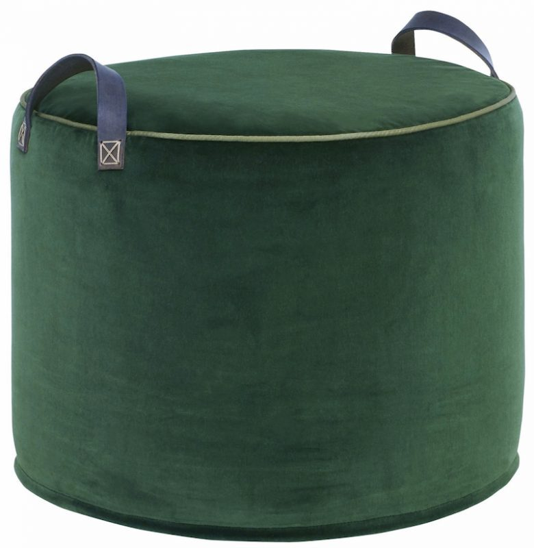 emerald green velvet artisan pouffe by tuffet co