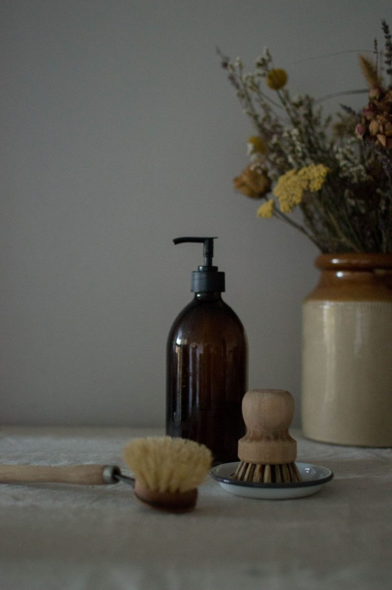eco friendly cleaning cupboard essentials and homemade natural DIY recipe sustainable swap ideas