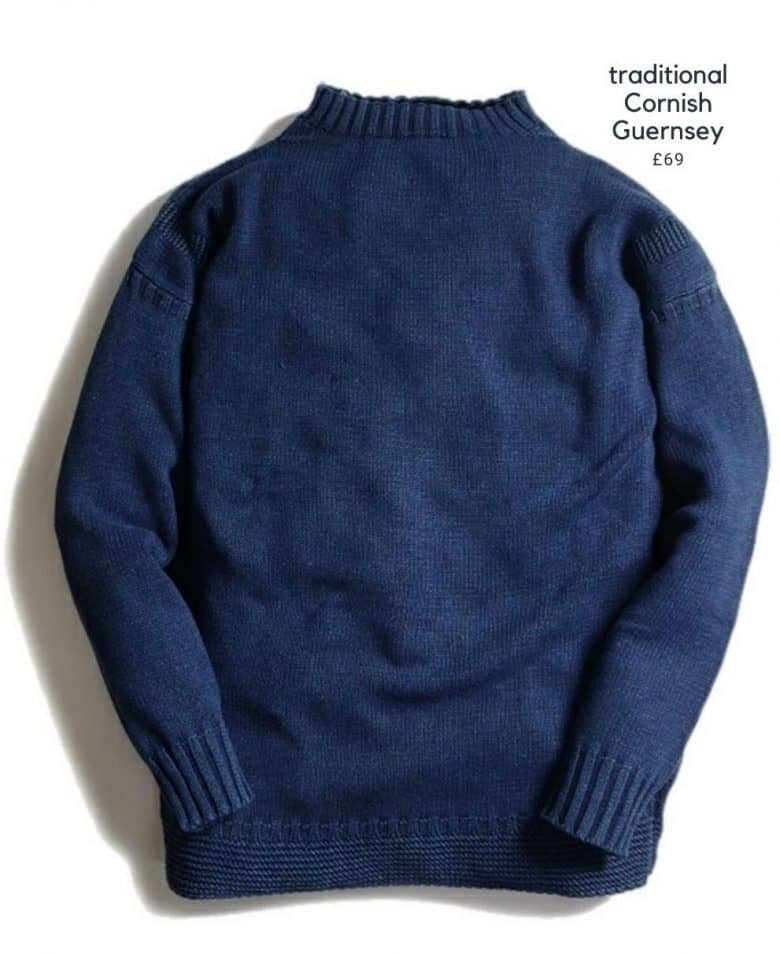 traditional guernsey sweater made in cotton using indigo dye by original blues michael ross #guernsey #cornish #blue #sweater #cotton #frombritainwithlove