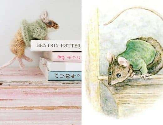 miss moppet mouse knitting pattern beatrix potter #missmoppet #mouse #knittingpattern #beatrixpotter