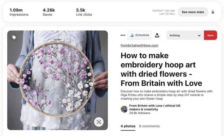 from britain with love pinterest stats
